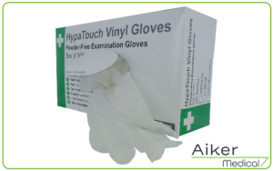 Powder-Free Vinyl Gloves by Aiker Medical