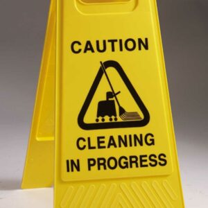Caution Cleaning In Progress A Board
