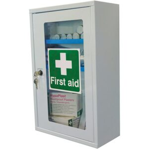 Key Lock First Aid Cabinet With Clear Door (Empty)